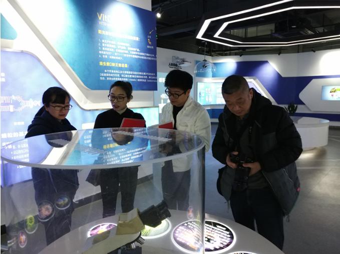 浙江省科技厅报道组来紫金创业园调研